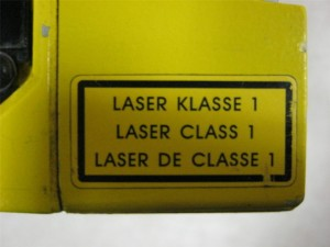 laser safety sign